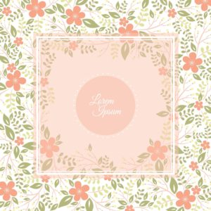 Floral Hallmark and American Greetings Card