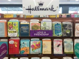 Picture of Hallmark and American Greetings Card in Store