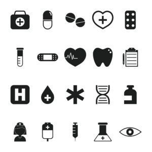 Graphic Of Medical Reserves Icons