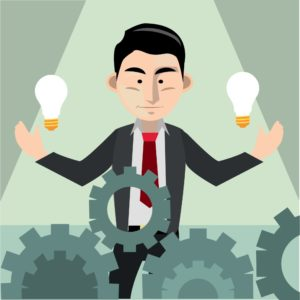 Graphic Businessman with an Idea NCCI Code Improvements