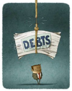 Clipart of unpaid debts in rope Workers Compensation Loss Run Graphic