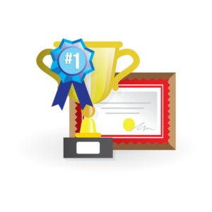 Graphic Of Trophy Blog Won And Certificate