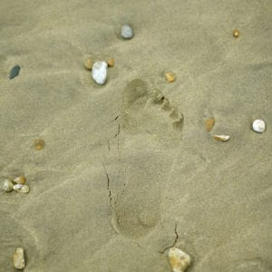 Picture of Foot Print On Beach Federal Control Another Step