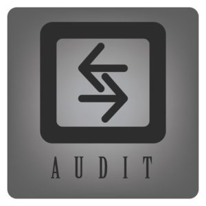 Graphic Of Opposite Arrow Workers Comp Audits Icon