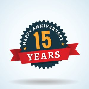 Graphic Of 15th year Anniversary