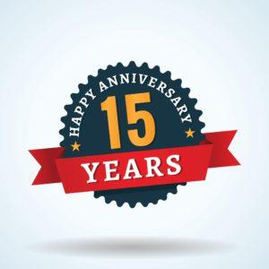Graphic Of 15th year Anniversary