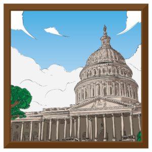 Graphic Of Federal Senator Capitol