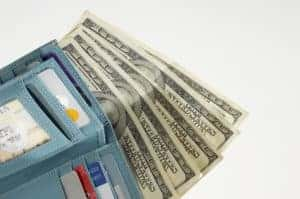 Picture of Wallet Allocated Expenses Full Of Money