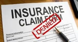 Picture Of Insurance Claim Form Workers Comp Bulletin Stamp Denied