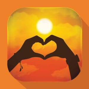 Graphic Of Hands Heart Shape Exclusive Remedy Doctrine Sunset Background