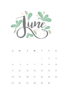 Graphic Of June 30th Calendar