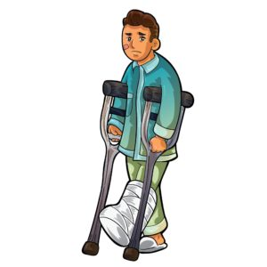 Graphic Of Man Proximate Cause With Foot Injured