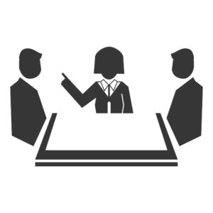 Vector Graphic Of Three People Workers Comp Claims Guide Discussion