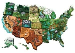 Map Of USA Interstate Rating Graphic