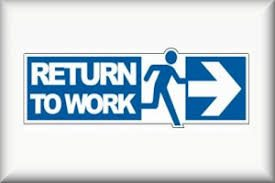 Graphic of Signage of footnote references Return to Work