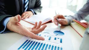 Picture Of businessman Actuarial Administrative Services Organization With Diagram Paper