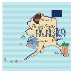 Map Of Alaska Body Slams High Priced Brand Graphic