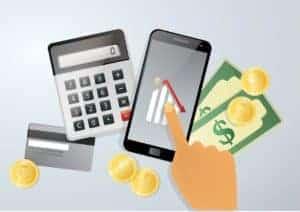 Graphic Of Calculator Premium Audit Bills And Phone