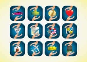 Graphic Of Policy Workers Comp and Expansion Icons