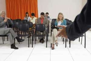 Picture of People Listening Class Code Seminars In Conference Room