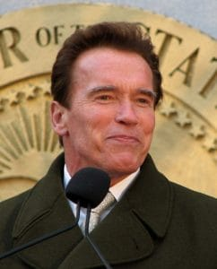 Picture Of Arnold Schwarzenegger Two Workers Comp Bills On Speech