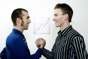 Picture Of Two Man Preferred Risk To Better Risk