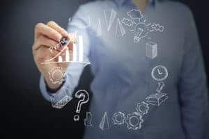 Picture Of Woman Hand Presenting Year Strategies Icon On Transparent Board