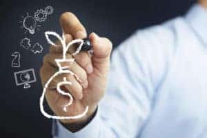 Picture Of Hand Illustrating Actuary Managing Financial Risk Drawing