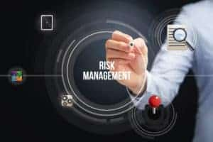 Picture of Hand Emphasizing On Risk Management Due Diligence Infographic