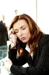 Picture Of Woman Employee Standard Exceptions Look Stress