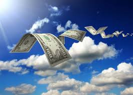 Picture of money go On Sky