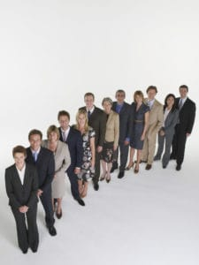 Picture of Captives for Workers Comp Businesspeople Standing