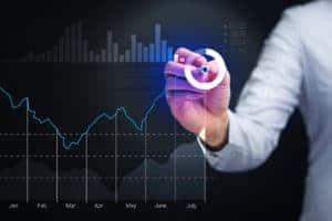 Picture Of Woman Hand Illustrating Regression Analysis Concept