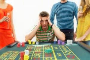 Frustrated Man Pure Risk At Gambling