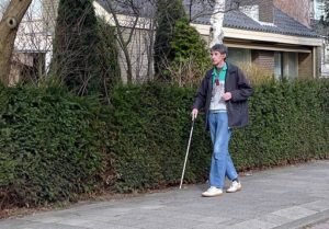 Picture Of Disability Man Impairment Rating Walking On Street