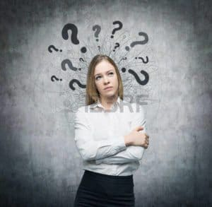 Picture of Woman Thinking Question Mark Premium Audit Question Class Code Changes