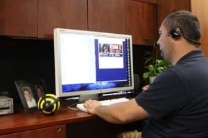 Man On His Room Standard Exception On Computer