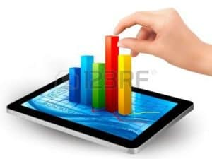 Graphic of Hand Touching Wage Statement In Tablet