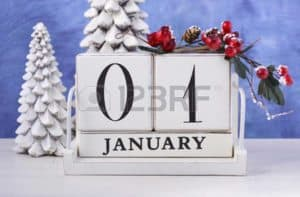 Christmas Graphic of Important Upcoming Date January First
