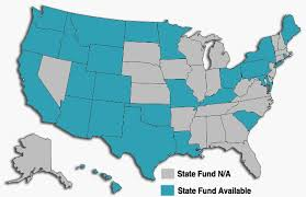 Map Of Monopolistic State Funds vs Competitive State Funds