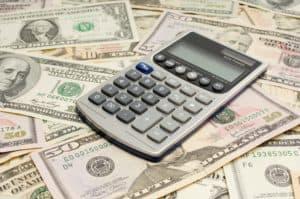 Money And Calculator Success Measurements Budget Concept