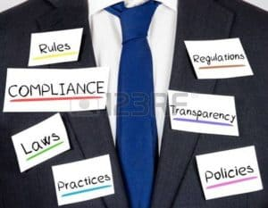Picture of Coat Having Notes Compliance Rules Concept