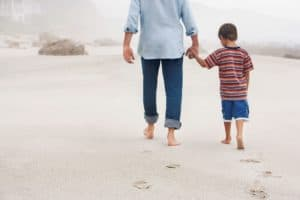 Picture Of Father And Son (MSA) Rules Walking On Beach