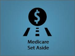 Graphic of Medicare Set Aside Road With Dollar Sign