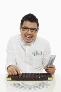 Picture Man Calculating Workers Comp Reserving Guesstimate