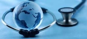 Graphic of Globe with stethoscope Virginia
