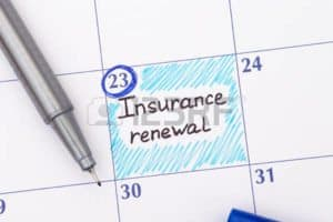 Graphic Of Insurance Mark On Calendar Workers Comp End Insurance Renewal