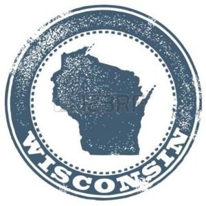 Map of Wisconsin Workers Comp Medical Emblem