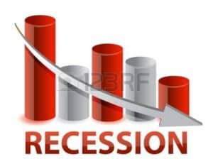 Diagram Of Recession Indemnity Costs with Decrease Arrow