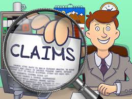 Graphic Of Man Fronting A Claims letter On Magnifying Glass Workers Comp Claim Concept